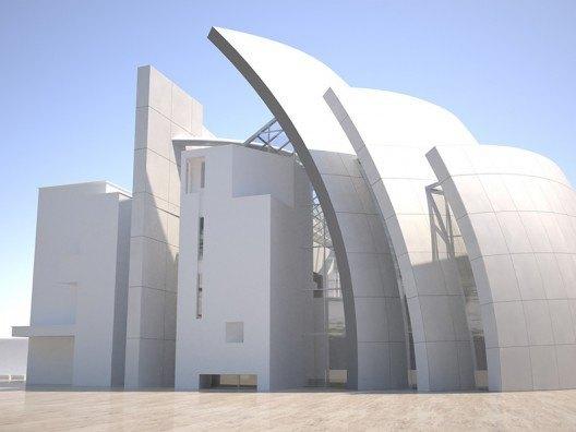 Infografía 3D Iglesia del Jubileo de Richard Meier por Bonet Arquitectos