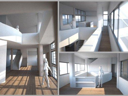 Infografía 3D de Villa Stein de Le Corbusier por Bonet Arquitectos
