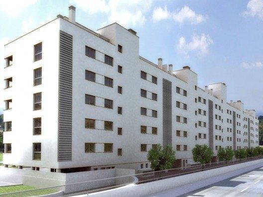 Infografía 3D de vivienda colectiva por Bonet Arquitectos