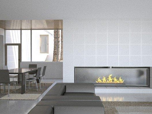 Construir vivienda unifamiliar, vista chimenea