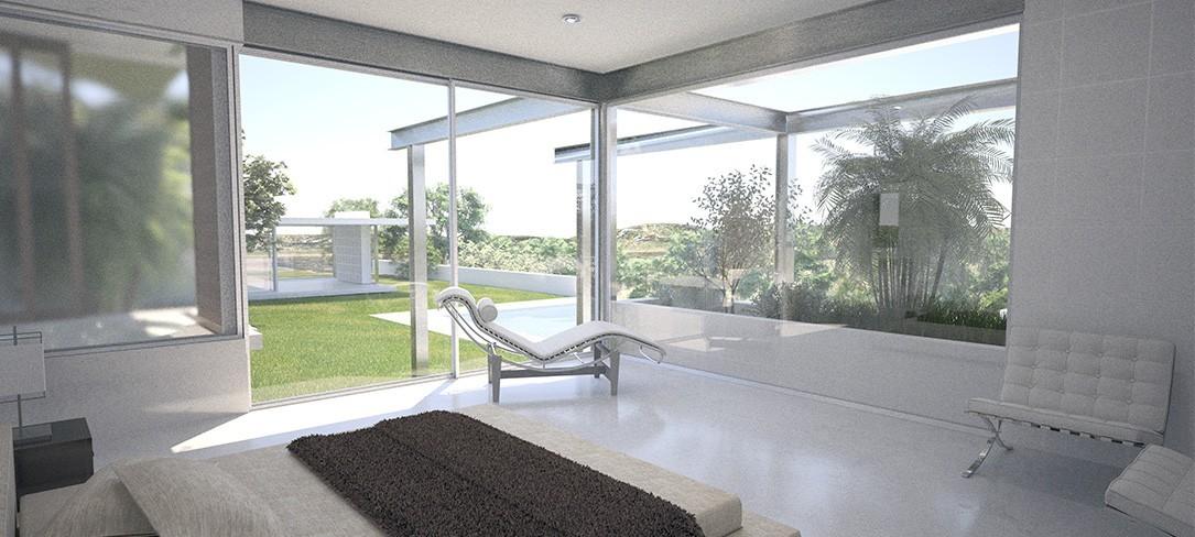 Vivienda A-Residence interior dormitorio, Bonet Arquitectos