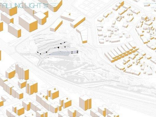 Emplazamiento Proyecto Falling Light por Bonet Arquitectos