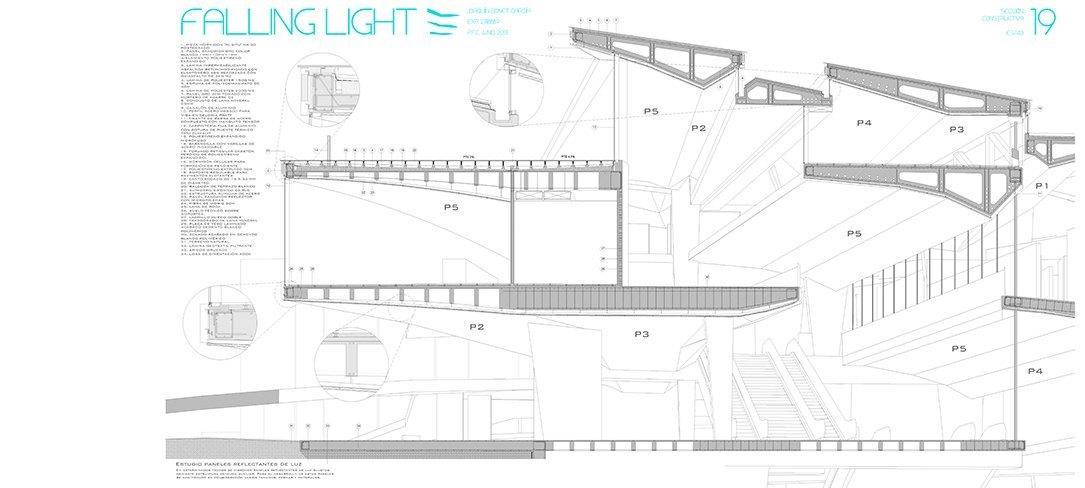 Falling Light Sección Constructiva Joaquín Bonet, Bonet Arquitectos