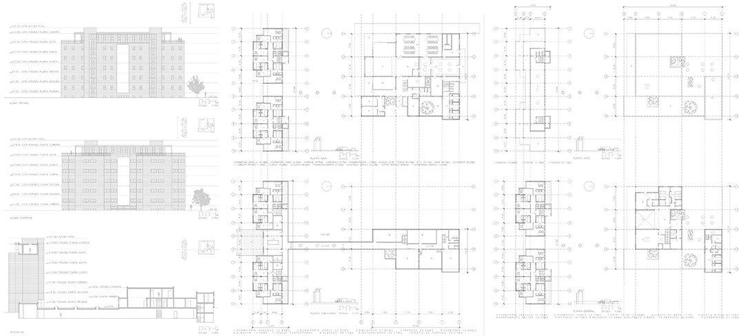 Bonet Arquitectos. Planos Cesar Carlos de Alejandro de la Sota