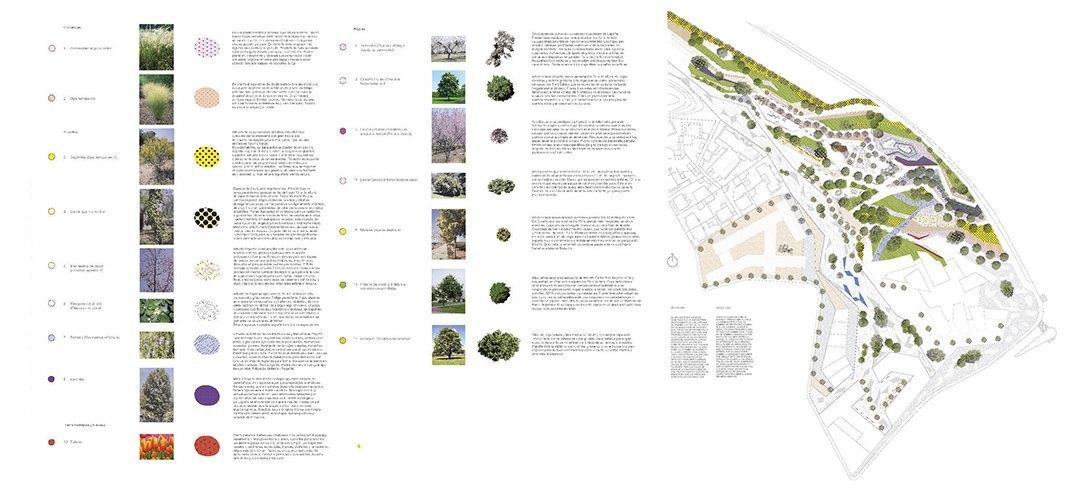 Planos de urbanismo y paisajismo. Bonet Arquitectos