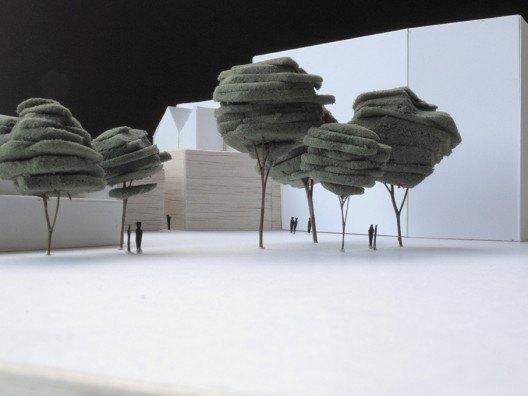 Maqueta actuación C-Granada-C-Alcazabilla en Málaga por Bonet Arquitectos